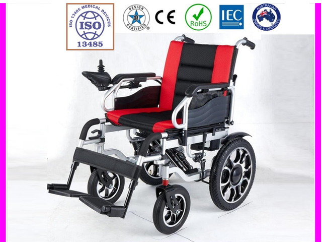 Folding Electric Powered Wheelchair MP-680 RED Cushion