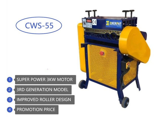 Enerpat Cable Wire Stripping Machine CWS-55 3KW SuperPower 3G