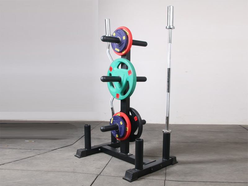 Olympic Weight Plate Barbell Storage Tree Rack Holder Home Gym Fitness Φ50mm