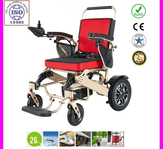 Foldable Electric Powered Wheelchair, Light Weight - MP530 GOLD